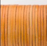 Zdjęcie - Rzemień naturalny płaski lakierowany 3x2mm jasny brąz