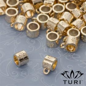 Zdjęcie - Krawatka z kwiatami w złotym kolorze 5mm