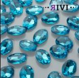 Zdjęcie - Kaboszon kryształowy aquamarine 13x18mm