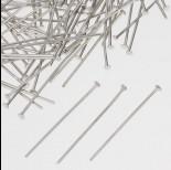 Zdjęcie - Szpilki z płaską główką w kolorze ciemnego srebra  30mm