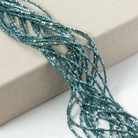 Zdjęcie - Hematyt platerowany soft cube emerald 2x2mm