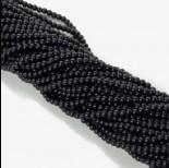 Zdjęcie - Koraliki szklane powlekane satynowe czarne 4mm