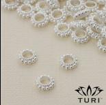 Zdjęcie - Przekładka oponka z kuleczkami w srebrnym kolorze 7.5mm
