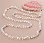 Zdjęcie - Naszyjnik z pereł naturalnych 120cm