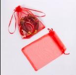 Zdjęcie - Woreczek z organzy do biżuterii 13x18cm czerwony