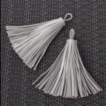 Zdjęcie - Chwost ze skóry ekologicznej srebrny 8cm