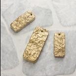 Zdjęcie - Kwarc górski prostokąty zestaw złoty