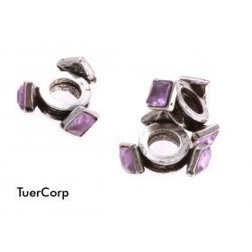 Zdjęcie - Przekładka kwadraciki z kryształkami sapphire 11mm