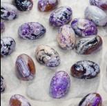 Zdjęcie - Agat kaboszon wypukły owal fioletowy 30x20mm