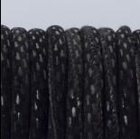 Zdjęcie - Rzemień szyty czarne prostokąty 6mm