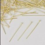 Zdjęcie - Szpilki z płaską główką w kolorze złotym  30mm