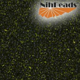 Zdjęcie - Koraliki NihBeads 12/0 Inside-Color Peridot/ Jet Line