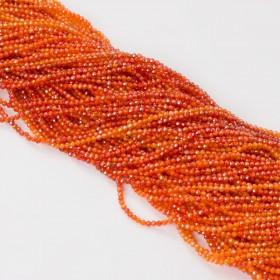 Zdjęcie - Cyrkonia kulka fasetowana pomarańczowa 2mm