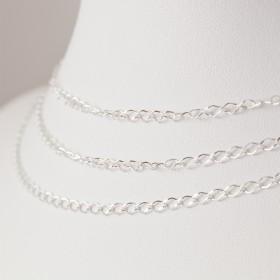 Zdjęcie - Srebrny łańcuszek romb diamentowany, próba Ag925 2.5mm