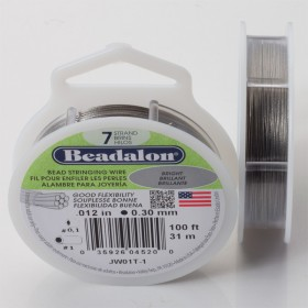 Zdjęcie - Linka stalowa Beadalon siedmiostrunowa 31m, 0.3mm szara