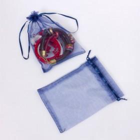 Zdjęcie - Woreczek z organzy do biżuterii 13x18cm niebieski