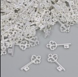 Zdjęcie - Zawieszka kluczyk w kolorze srebrnym 23x10.5mm