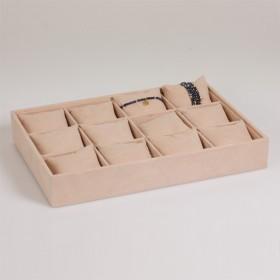Zdjęcie - Ekspozytor na bransoletki z poduszkami 12 komorowy 35x24 cm
