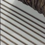 Zdjęcie - Łańcuszek pancerka dodatkowo platerowana w kolorze czarno-złotym 2mm