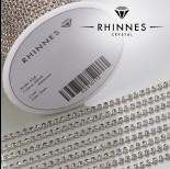 Zdjęcie - Taśma z kryształkami kolor srebrny black diamond 2mm