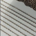 Zdjęcie - Łańcuszek owal diamentowany dodatkowo platerowany w kolorze czarno-złotym 1.5mm
