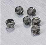 Zdjęcie - 5052 Swarovski mini round bead 6mm Black Diamond