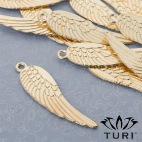 Zdjęcie - Zawieszka anielskie skrzydło w kolorze złotym 69x19.5mm