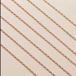 Zdjęcie - Srebrny, pozłacany łańcuch rolo podłużny diamentowany ag925  2x1,2mm