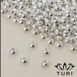 Zdjęcie - Koralik dysk w srebrnym kolorze 4.5x2.5mm