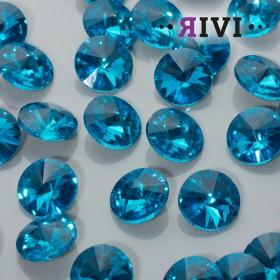 Zdjęcie - Kaboszon kryształowy aquamarine 16mm