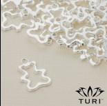 Zdjęcie - Zawieszka misiek ażurowy w srebrnym kolorze 17.5x12.5mm