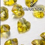 Zdjęcie - Swarovski heart 18 mm light topaz