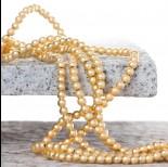 Zdjęcie - Hematyt platerowany kulka gładka satynowa light gold 4mm
