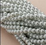 Zdjęcie - Perły szklane siwe 8mm