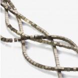 Zdjęcie - Hematyt platerowany kostka matowa brązowa 3x3mm