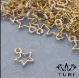 Zdjęcie - Zawieszka gwiazda ażurowa w złotym kolorze 10.5mm