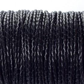 Zdjęcie - Rzemień naturalny pleciony czarny 2.5mm