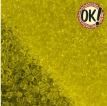 Koraliki SeedBeads Round 12/0 Transparent Yellow