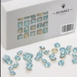 Zdjęcie - Rhinnes rivoli crystal turquise 8mm