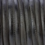 Zdjęcie - Rzemień szyty ciemno srebrny 6mm