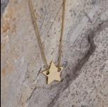 Zdjęcie - Srebrna, pozłacana blaszka celebrytka gwiazdka, próba 925 11,5mm
