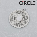 Zdjęcie - Zawieszka okrągła wycięta mandala stal chirurgiczna z kółeczkiem  25mm