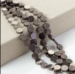 Zdjęcie - Hematyt platerowany krążek diamentowy brązowy 12x4mm