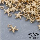 Zdjęcie - Zawieszka rozgwiazda w kolorze złotym 10mm
