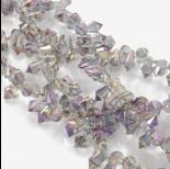 Zdjęcie - Kryształki drop fasetowane violet shade 6x11mm