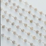 Zdjęcie - Łańcuch srebrny ag925 z labradorytem fasetowanym 3.5x3mm