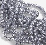 Zdjęcie - Kryształki kulki fasetowane full silver 6mm