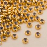 Zdjęcie - Zapięcie stoper z silikonem ze stali chirurgicznej 6x3mm złoty