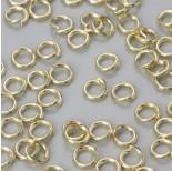 Kółeczka zaciskowe light gold 5x1mm