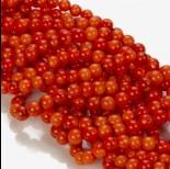 Zdjęcie - Koral bambusowy kulka pomarańczowa 6-7mm